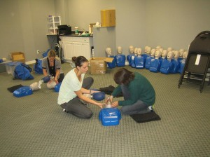 First aid and CPR re-certification courses