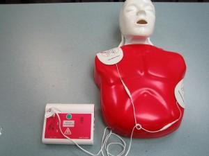 Learning CPR on Manikin